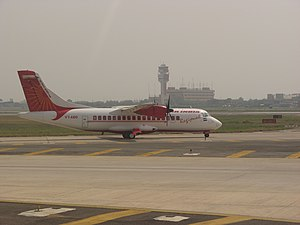 Alliance Air (India) - An Air India Regional ATR 42 taxiing at the Delhi hub