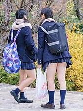 aa03d99ec Japanese schoolgirls in short mini-skirts: Kogal culture