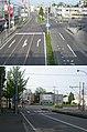 北海道道100号函館上磯線・北海道道83号函館南茅部線交点(函館南茅部線起点側、上:起点側から、下:終点側から).jpg