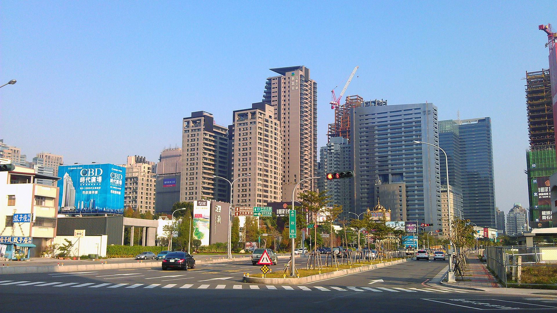 台中西屯公告地價大漲,讓豪宅建商直呼「太可怕了」。(截取自維基百科)
