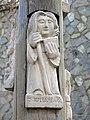015 Creu de terme de Sant Sebastià (Argentona), relleu de Sant Julià, de Jaume Clavell.jpg
