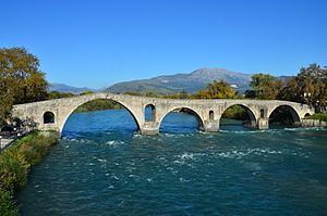 Arta, Greece - The historic Bridge of Arta.