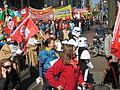 1. Mai 2013 in Hannover. Gute Arbeit. Sichere Rente. Soziales Europa. Umzug vom Freizeitheim Linden zum Klagesmarkt. Menschen und Aktivitäten (088).jpg