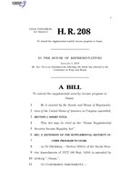 116th United States Congress H. R. 0000208 (1st session) - Guam Supplemental Security Income Equality Act.pdf