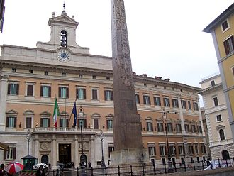 Chamber of Deputies (Kingdom of Italy) - The Palazzo Montecitorio, seat of the Chamber from 1871.