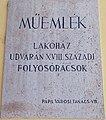 13 Fő Square, plaque, 2020 Pápa.jpg