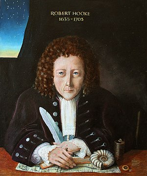 Robert Hooke - Modern portrait of Robert Hooke (Rita Greer 2004), based on descriptions by Aubrey and Waller; no contemporary depictions of Hooke are known to survive.