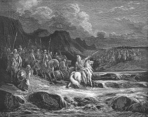 Dathema - Judas Maccabeus pursuing Timotheus, by Gustave Doré