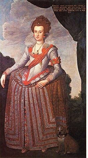 Anne Catherine of Brandenburg - Image: 1575 Anna Katharina