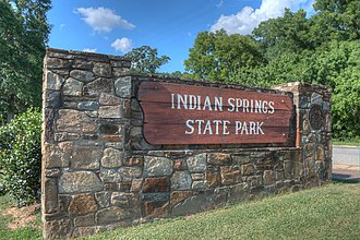 Indian Springs State Park - Image: 15 21 107 indian springs entrance