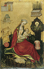 The Virgin and Child in the Hortus Conclusus (left wing)
