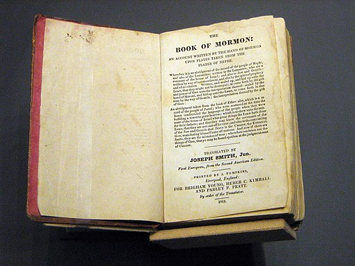 1841 Book of Mormon open to title page