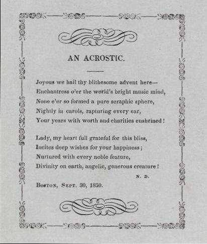 1850 acrostic Dearborn