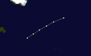 1855 Atlantic hurricane season - Image: 1855 Atlantic hurricane 2 track