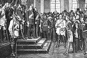 Proclamación de Imperio alemán en el Palacio de Versalles.