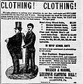 1881 - Wasser & Haring Newspaper Ad Allentown PA.jpg