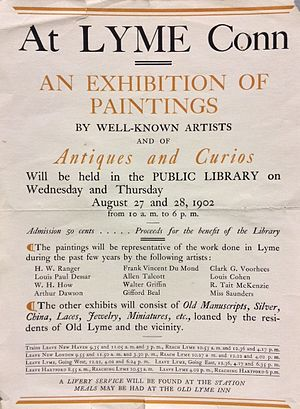 Lyme Art Association - 1902 Exhibition announcement