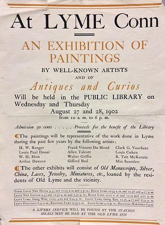 Lyme Art Association - 1902 Exhibition announcement