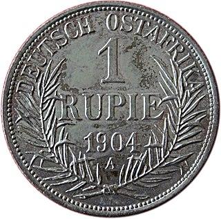 German East African rupie currency