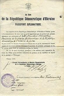 Ukrainian passport wikipedia 1919 ukraine diplomatic pass vienna yelopaper Image collections