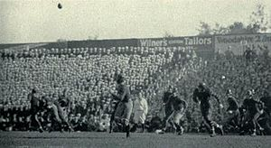 Crab Bowl Classic - A forward pass during the 1931 game.