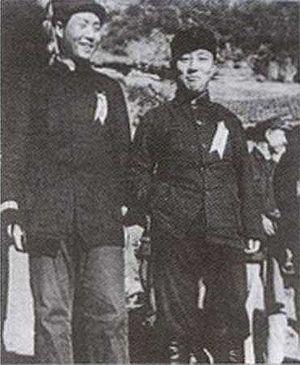 Wang Ming - 1937 Mao Zedong (left) Wang Ming (right) in Yan'an.