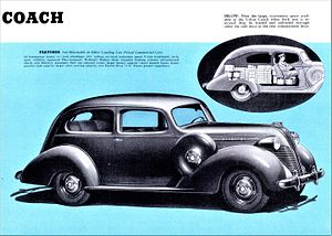 Sedan delivery - 1937 Terraplane Coach, another early sedan delivery