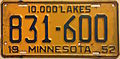 1952 Minnesota license plate.JPG
