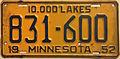1952 Minnesota license plate.JPG