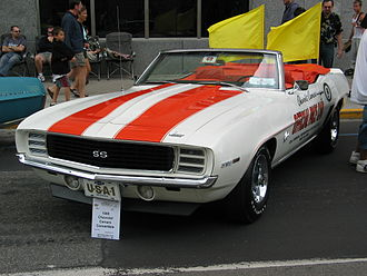 Indianapolis 500 pace cars - 1969 Chevrolet Camaro Pace Car