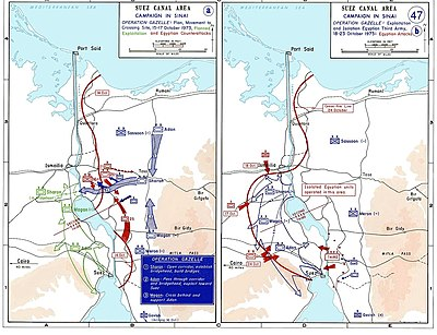 The 1973 War in the Sinai, October 15–24.