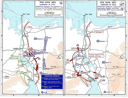 Yom Kippur War Wikipedia - Map of the middle east us war plan