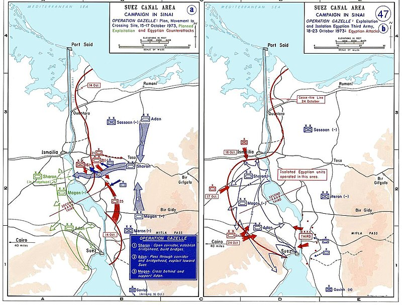 The 1973 War in the Sinai, October 15-24 1973 sinai war maps2.jpg