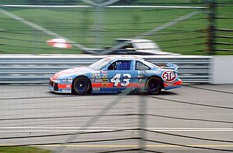 1994 Brickyard 400 - Richard Petty taking practice laps at the Open Test in 1993.