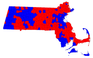 United States Senate election in Massachusetts, 1996 - Image: 1996 MA Senate