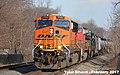 1 2 BNSF 7567 Leads WB Tank Cars Olathe, KS 2-19-17 (32189232153).jpg