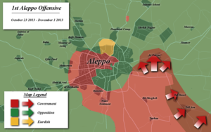 Aleppo offensive (October–December 2013) - Situation in Aleppo city during the offensive
