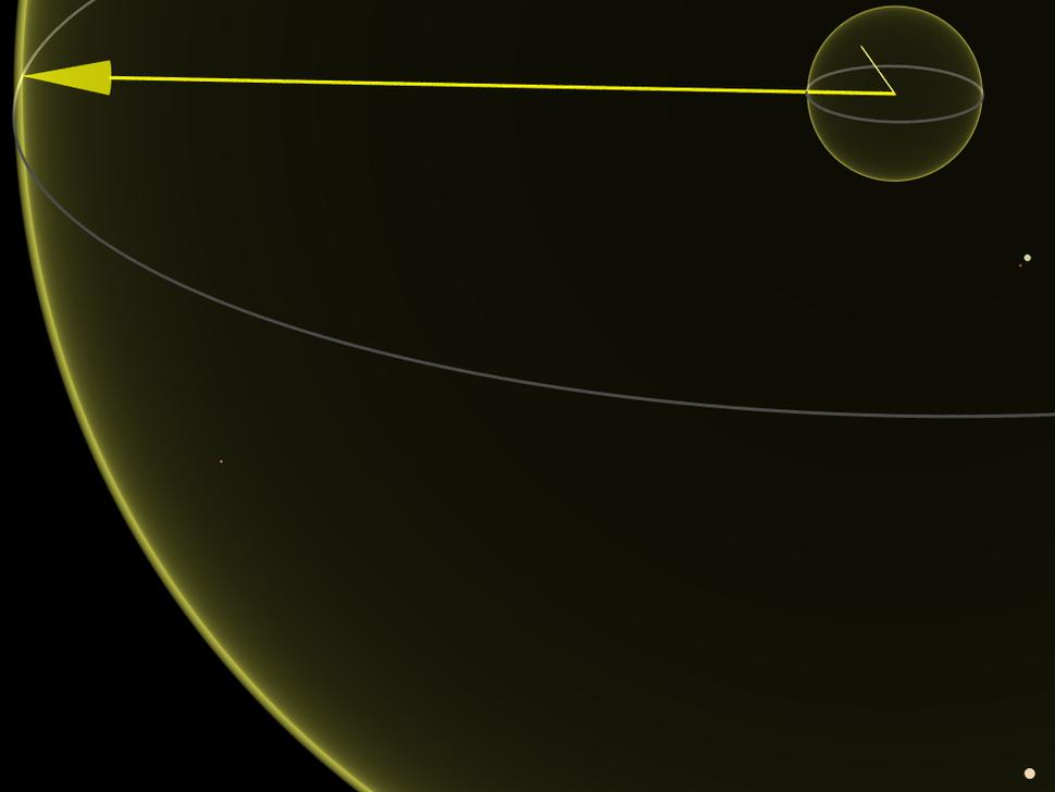 1e16m comparison 10 light years sirius