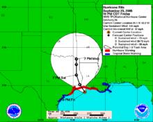 Hurricane Rita Path