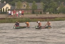 File:2005 AuSable River Canoe Marathon Finish.ogv
