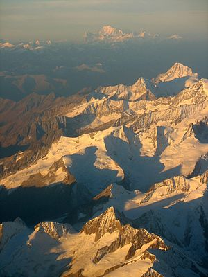 French Alps - Image: 2006 10 11 mont blanc by plane 5