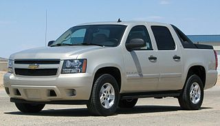 Chevrolet Avalanche four-door, five or six passenger sport utility truck
