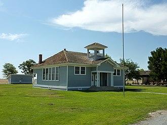 Colonel Allensworth State Historic Park - Image: 2009 0725 CA Allensworth Elementary