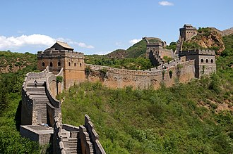 Great Wall of China - An area of the sections of the Great Wall at Jinshanling