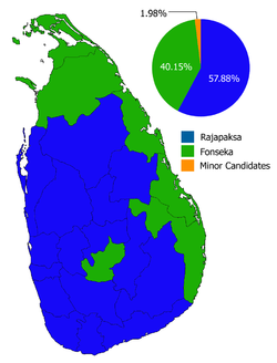 2010 Sri Lankan Presidential Election, overall results.png