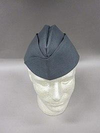 2011-148-91 Uniform, Officer, Garrison cap, Grey (6012215644).jpg