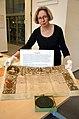 2014-03-08 Tag der Archive Hauptstaatsarch Niedersachsen Christine van den Heuvel facsimile 1706 Sukzessionsurkunde Anne Great Britain Kurfürstin Sophie von Braunschweig-Lüneburg electress of Hanover.jpg