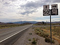 2014-07-28 09 38 39 View east along U.S. Route 50 at the junction with Nevada State Route 361 (Gabbs Valley Road) in Middlegate, Nevada.JPG
