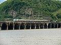 20140523 38 Amtrak Pennsylvanian crossing Rockville Bridge (16039186973).jpg