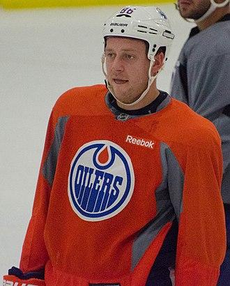 Nikita Nikitin - Nikitin at the 2014 Edmonton Oilers training camp